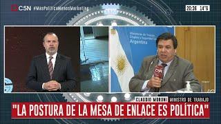 Entrevista al ministro de trabajo Claudio Moroni en Minuto Uno