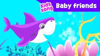 Shark family kids song Baby friends Children learnin nusery rhymes toddlers music