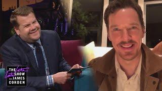 Benedict Cumberbatch Played a Fart App w/ Stephen Spielberg