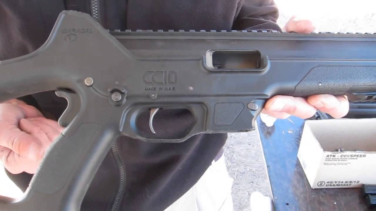 Caracal CC10 carbine in 9mm shooting at SHOT Show 2013
