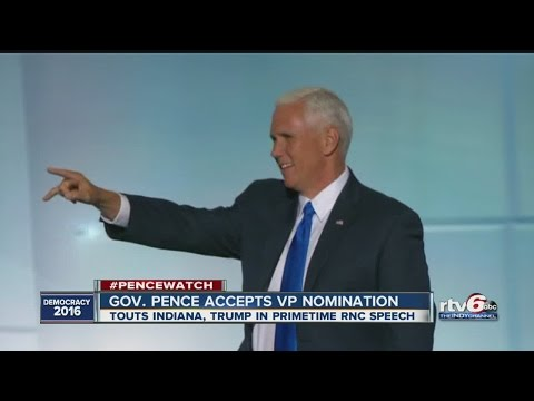 Mike Pence accepts the Republican VP nomination