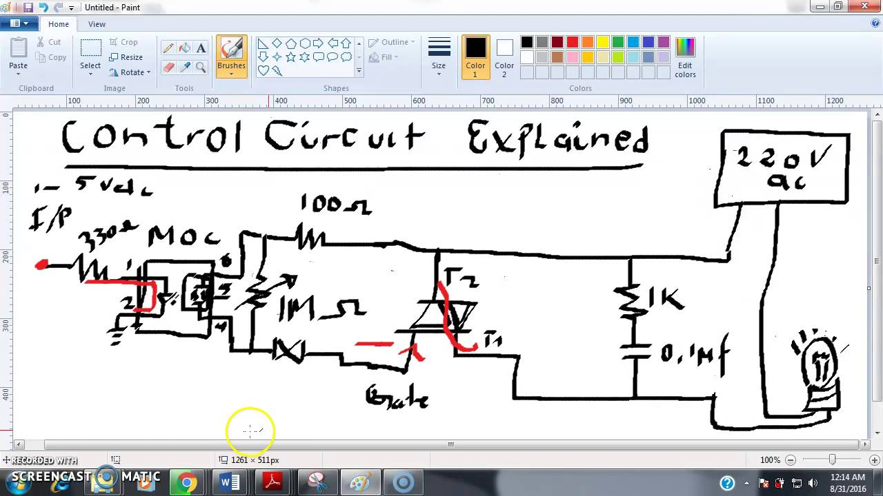 Control Circuit With Moc3041