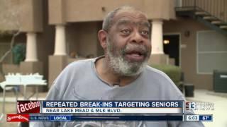 Repeated break-ins target seniors at apartment complex