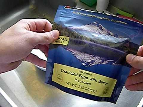 Mountain House Freeze Dried Food Tasting