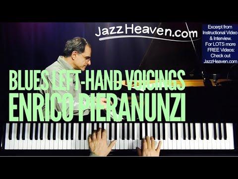 Enrico Pieranunzi Blues Left-Hand Voicings for Jazz Piano - JazzHeaven.com excerpt