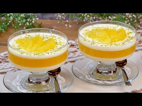 Освежающий сливочно-апельсиновый десерт! Вкуснее всего из натурального сока!
