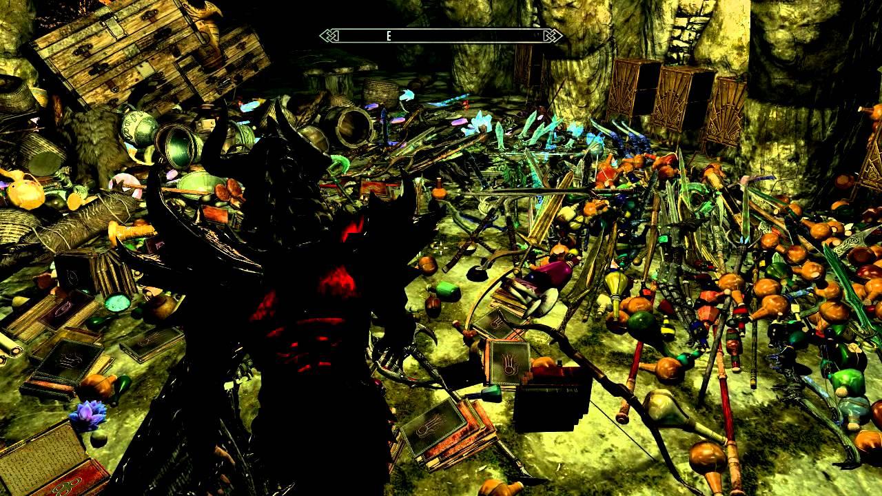 The Elder Scrolls V (Skyrim) : Room of Hyper-Treasures and All items ...