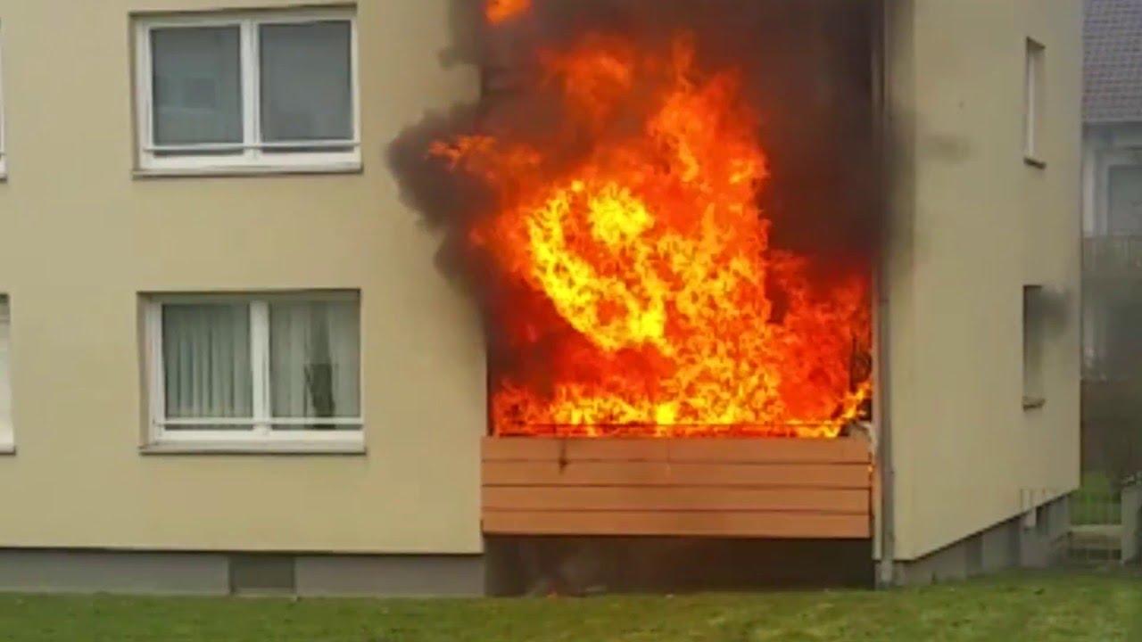 feuer in oberzwehren explosion auf balkon youtube