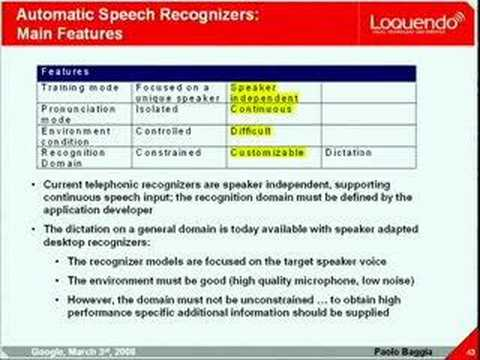 Speech Technologies and Platforms - Present and Future Evolutions