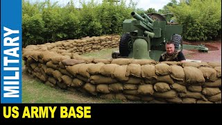 Vietnam war experience real military base exhibit bunkers by Jarek Charleston South Carolina USA