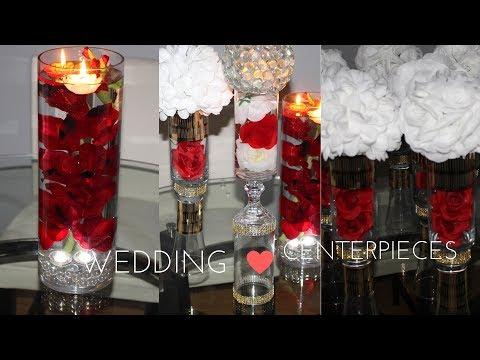 DIY GLAM DOLLER TREE WEDDING CENTERPIECES