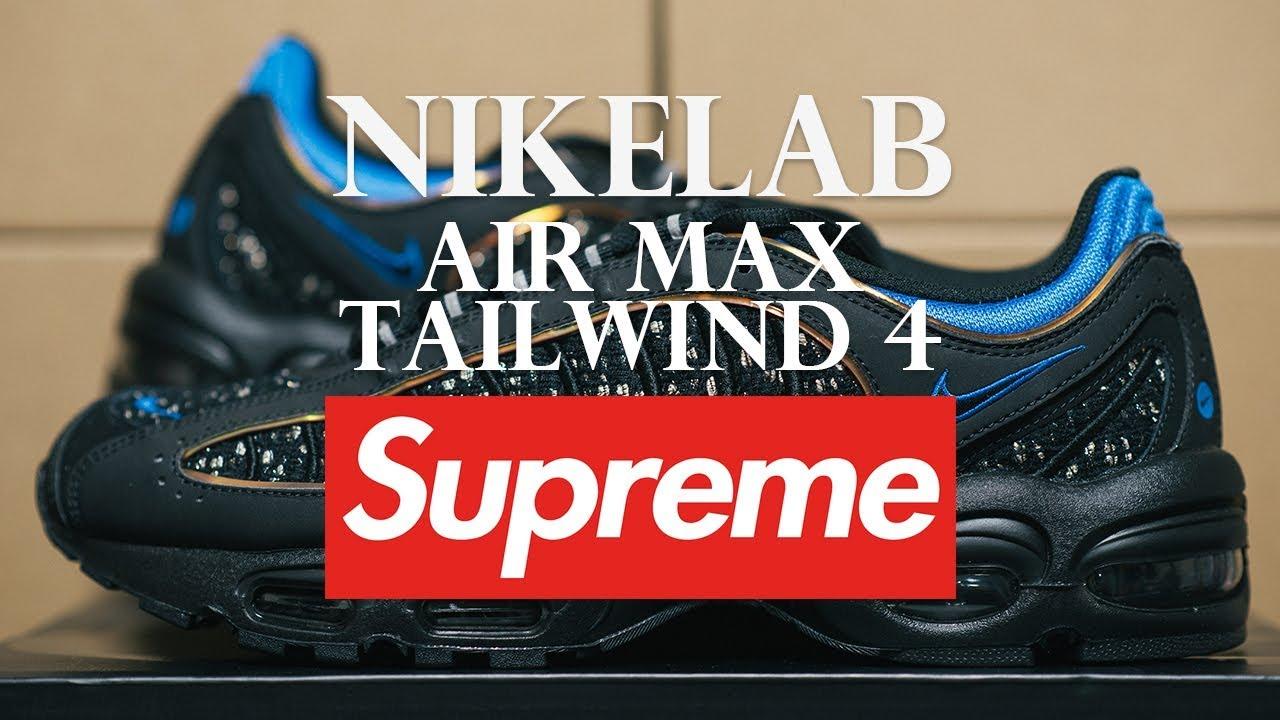 91d2abbd8ed [Sneakers] Nikelab Air Max Tailwind 4 Supreme Black / 나이키 에어맥스 테일윈드 4 슈프림 블랙