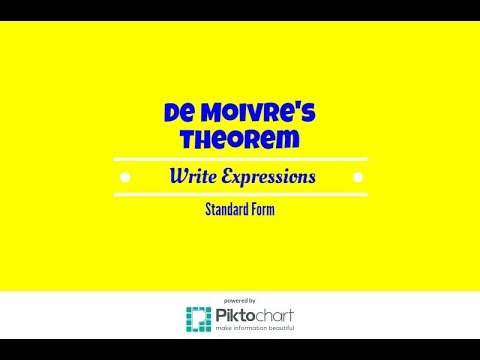 Use De Moivres Theorem To Write Expressions In Standard Form Youtube