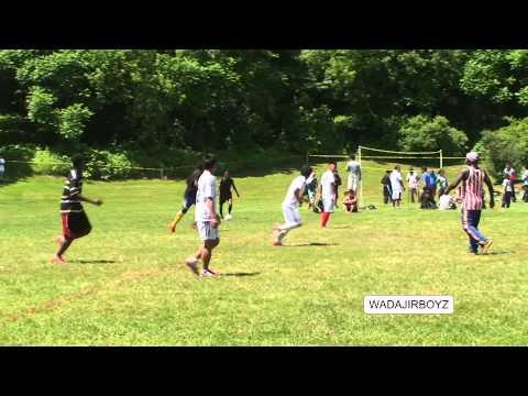 World Refugee Day soccer playing Somali Bantu and Nibal