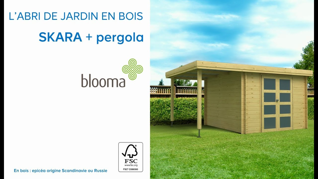 abri de jardin en bois pergola skara blooma 675978 castorama youtube. Black Bedroom Furniture Sets. Home Design Ideas