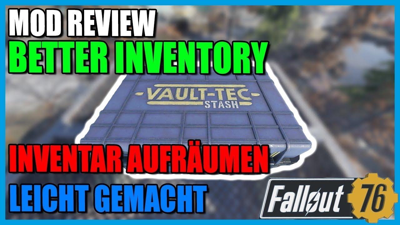 Mod Review Better Inventory Fallout 76 Deutsch Youtube