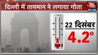 Temperature dips several notches in Delhi