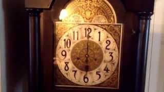Rare 1926 Junghans tall case grandfather clock, original 90 yr old parts. Westminster German chime.
