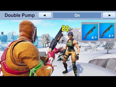 How to use NEW DOUBLE PUMP in Fortnite..