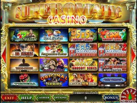 Игровые аппараты супероматик регистрация в онлайн казино адмирал
