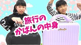 旅行のかばんの中身を紹介するよ★缶バッチ紹介★にゃーにゃちゃんねるnya-nya channel