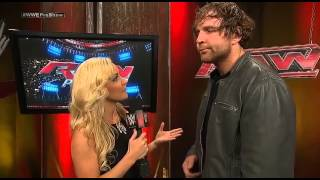 Renee Young interviews Dean Ambrose (RAW PRE SHOW 11/8/14)