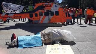 Trabajadores de Salvamento Marítimo protestan ante Fomento