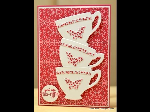 Butterfly Teacups' Card - JanB UK Stampin' Up! Demonstrator Independent