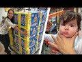 1º CORTE DE CABELO DA BEBÊ LAURA E FRALDAS NO SUPERMERCADO CARREFOUR!! Daily Vlog em Família