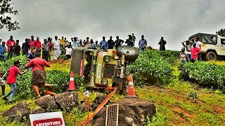 pala achayan {bino} jeep accident. wayanad mahindra off roading trophy 2017