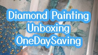 DIAMOND PAINTING - UNBOXING KITS FROM ONE DAY SAVING