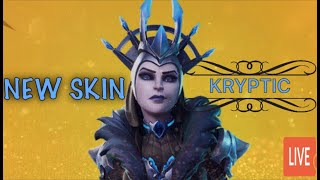 New Ice queen skin update  TwitchTvKryptit's Live PS4 Fortnite Stream snipe me Playing with subs!