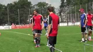 清武選手、1FCニュルンベルクの練習風景 thumbnail