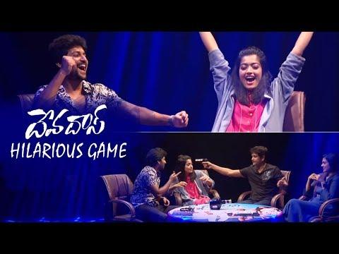 Devadas Movie Team Hilarious Game   Devadas Game Day   Nagarjuna   Nani   Rashmika   Aakanksha
