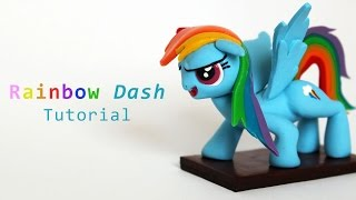 My Little Pony Rainbow Dash Polymer Clay Tutorial