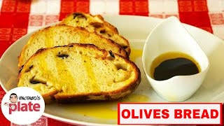 Mediterranean Olive Bread Recipe | How To Make Olive Bread