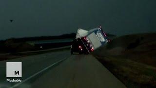 Massive tornado destroys buildings, flips semi-trucks in Illinois | Mashable