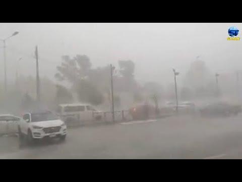 لحظة دخول عاصفة مهولة على بغداد ، العراق