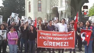 TGB'liler Atatürk düşmanı Mustafa Armağan'ı İstanbul Üniversitesi'ne sokmadı.