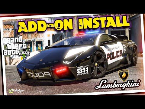 How To Install Lamborghini Reventon Police Car In GTA 5 Pc   Addon Cars Tutorial   GTA 5 MODS