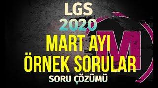 LGS MART Ayı Örnek Sorular 2020 MEB Matemetik