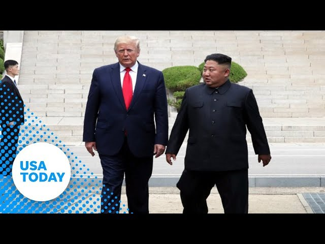 President Donald Trump crosses line into North Korea | USA TODAY