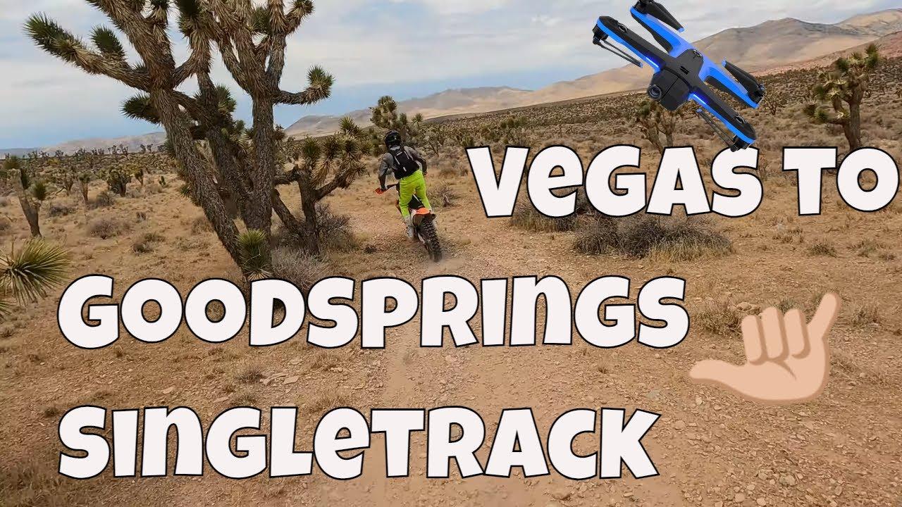 Thies Riiber Desert Rider Killing Singletrack in Las Vegas Summertime