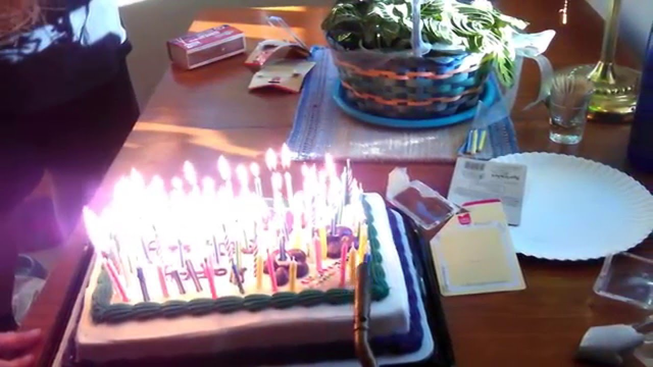 90 Candle B Day Cake Triggers Fire Alarm