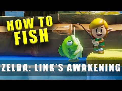 Zelda Link's Awakening Fishing Tips & How To Catch Fish (Switch)