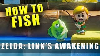 The Legend of Zelda Link's Awakening Switch fishing and how to catch fish
