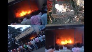 : ವಿದ್ಯುತ್ ಶಾರ್ಟ್ ಸರ್ಕ್ಯೂಟ್ ನಿಂದ ಮೊಬೈಲ್ ಅಂಗಡಿ ಭಸ್ಮ :KTV NEWS