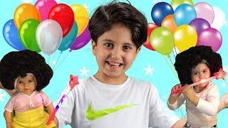 SADO'NUN SİHİRLİ BALONLARI !! Learn Colors with Baby and Magic Balloons - Funny Kids Video
