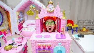 보람이와 코난의 디즈니 주방놀이 장난감 요리놀이 Boram Food Toys and Princess Kitchen Play Set
