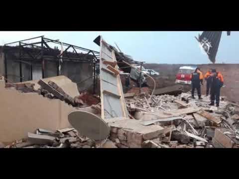 Видео с места взрыва пивоварни в Пятигорске